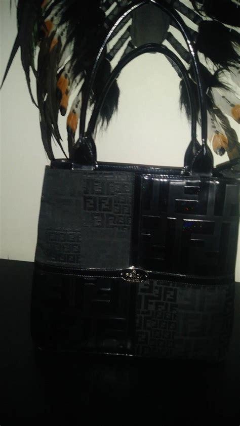 fendi monogram shoulder bag patent leather  canvas woman bags handbags bags bag sale
