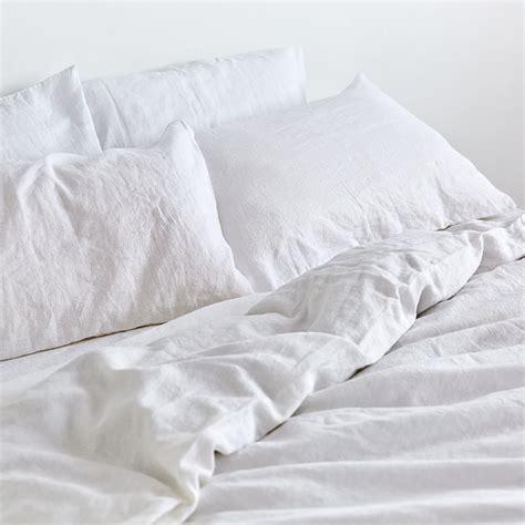 white duver cover 100 linen duvet cover in white in bed store