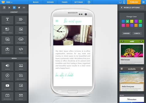 weebly launches  android app mobile  html site creator