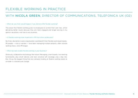 cipr flexible working  public relations guide