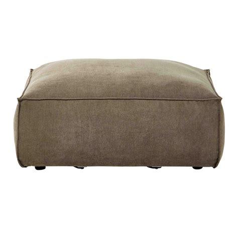 canape tissu taupe pouf de canapé modulable en tissu taupe chiné rubens