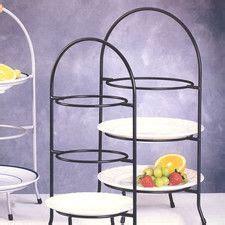 iron works  tier dessert plate rack plate racks