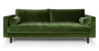 green sofa sven grass green sofa sofas article modern mid century and scandinavian furniture