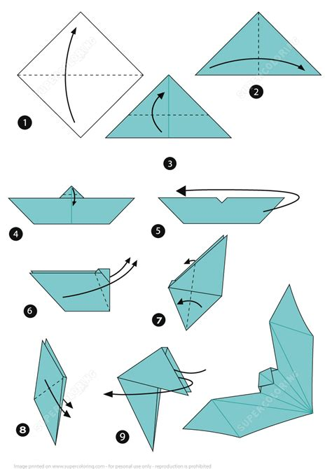 How To Make A Realistic Paper Boat by Origami Bat Free Printable Papercraft Templates