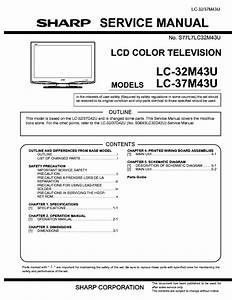 Sharp Lcd Tv Lc32gd7 Service Manual Download  Schematics  Eeprom  Repair Info For Electronics