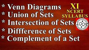 Venn Diagram Union Of Sets Intersection Of Sets Difference