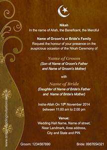 best template muslim wedding invitation cards modern With format of muslim wedding invitation card