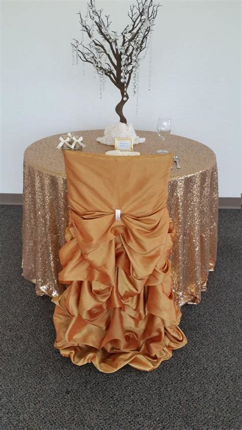 gold wedding chair covers ruffled wedding chair covers