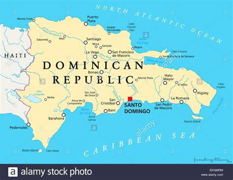 dominican republic map stock  dominican republic