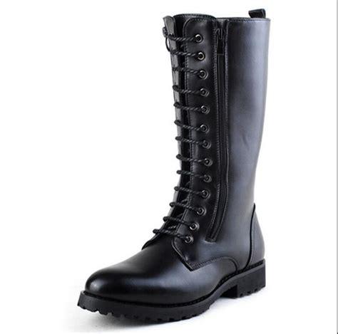 Men Long Boots Fashion Winter High Mid Calf Motorcycle