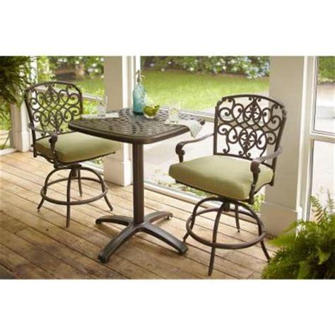 hton bay edington 3 patio balcony set with celery