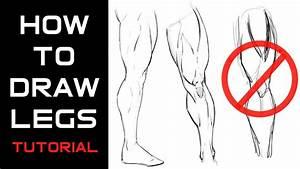 Drawing Muscular Legs