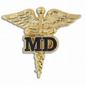 PinMart's Medical Doctor MD Gold Caduceus Pin | eBay