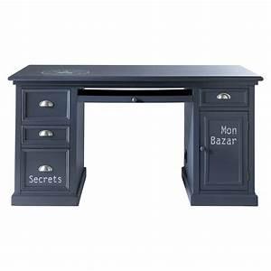 Bureau 150 Cm : bureau en bois gris l 150 cm newport maisons du monde ~ Teatrodelosmanantiales.com Idées de Décoration
