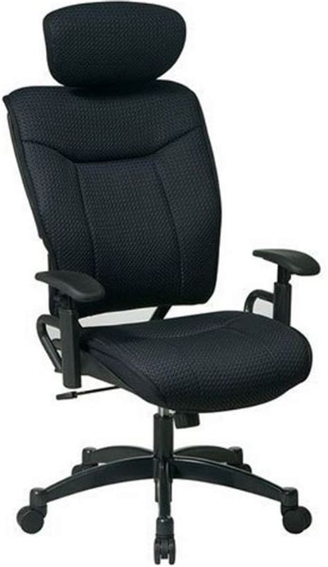 office 37016 black deluxe mesh managers chair with