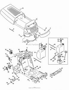 Mtd 13w2771s031  Lt4200   2012  Parts Diagram For Hood Style 1