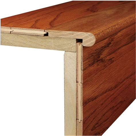 wood stair nosing shop bruce 3 12 in x 78 in marsh natural wood stair nose floor moulding at lowes com