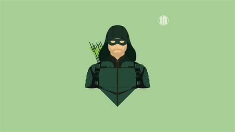 Minimalism Green Arrow Uhd 8k Wallpaper