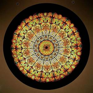 Hand Made Stained Glass Dome Ceiling 16' X 4' In Hand