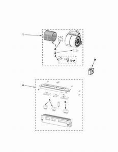 Ventilation Parts Diagram  U0026 Parts List For Model Kwcs160wss0 Kitchenaid