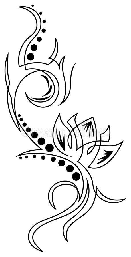 Lotus tattoo stock vector. Illustration of beauty, element - 85127746