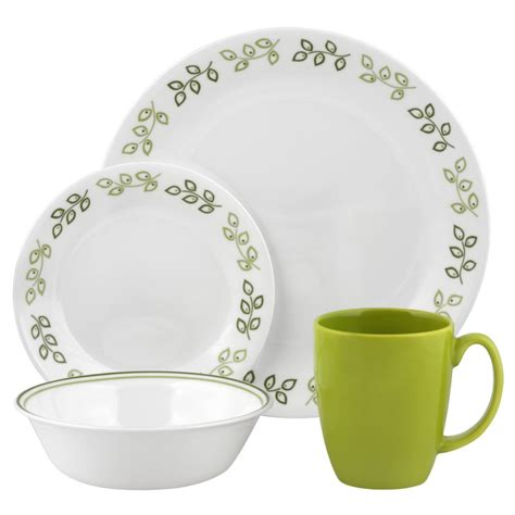 corelle dinnerware leaf piece neo livingware dinner sets contours service dining amazon walmart dishes plates vitrelle plate lightweight pattern pc