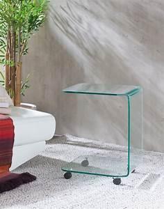 Couchtisch Glas Auf Rollen : glas beistelltisch auf rollen couchtisch eckig aus glas h 60cm ~ Markanthonyermac.com Haus und Dekorationen