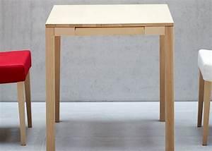 Table De Cuisine Avec Tiroir : table de cuisine en h tre naturel avec tiroir central haya ~ Teatrodelosmanantiales.com Idées de Décoration