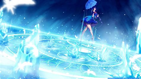 anime ice girl ice magna carta  nlue shades umbrella