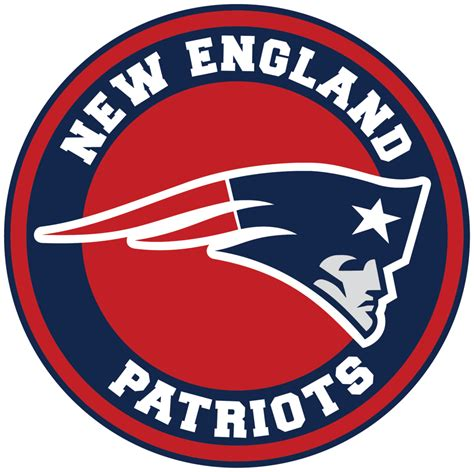 New England Patriots Circle Logo Vinyl Decal / Sticker 5 ...