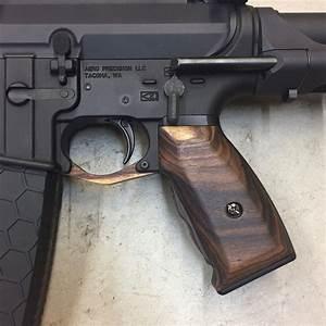 Wood AR 15 Grips Rosewood Black Wood USA Pew Pew