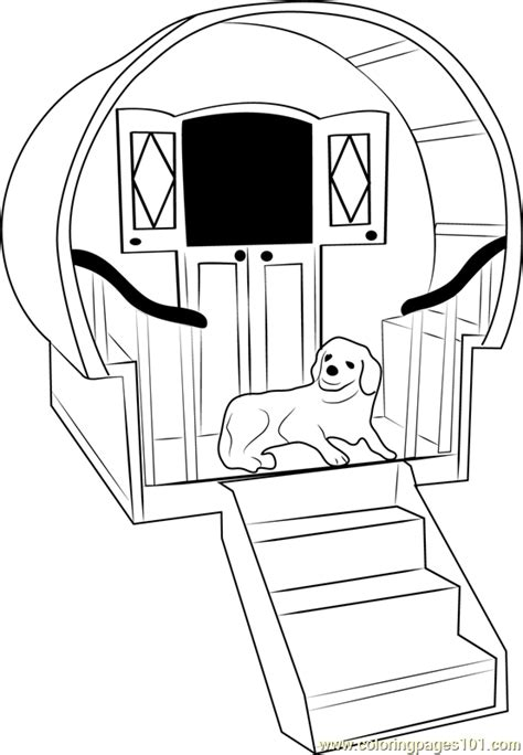 dog house  stairs coloring page  dog house coloring pages coloringpagescom