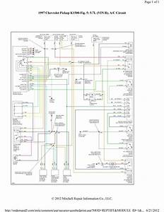 Chevy Silverado Air Conditioning Wiring Diagram