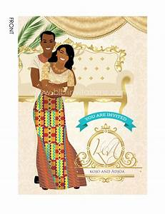 Ghana traditional wedding invitation card for Traditional ghanaian wedding invitations