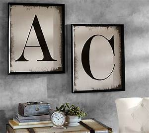 painted type letter framed prints pottery barn With pottery barn wall letters