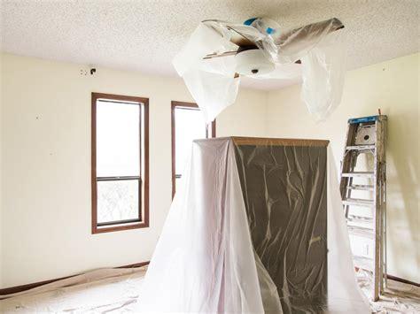 remove  popcorn ceiling  tos diy