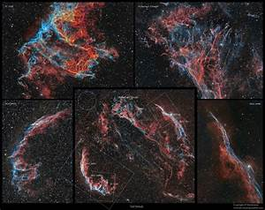 Astro Anarchy: Veil Nebula collection as a poster