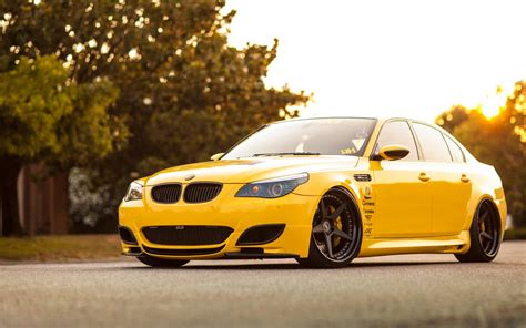 Bmw M5 Yellow Car Tuning Wallpaper  1680x1050 #16208