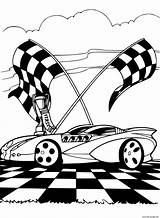 Track Coloring Racing Printable sketch template