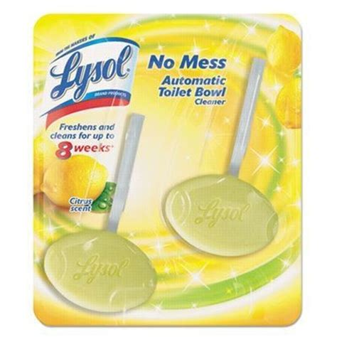 lysol 174 citrus no mess automatic toilet bowl cleaner 2 pack