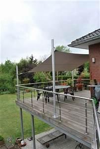 carrelage antiderapant exterieur noir pour la terrasse With idee amenagement jardin rectangulaire 7 amenagement dune terrasse deco avec un voile dombrage