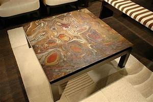 stone coffee table for perfect living room traba homes With wood coffee table with stone top