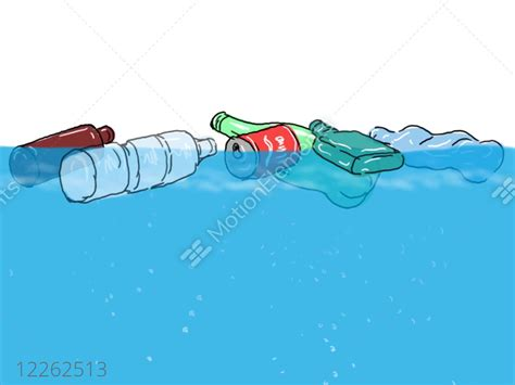 plastic trash  rubbish floating  ocean drawing