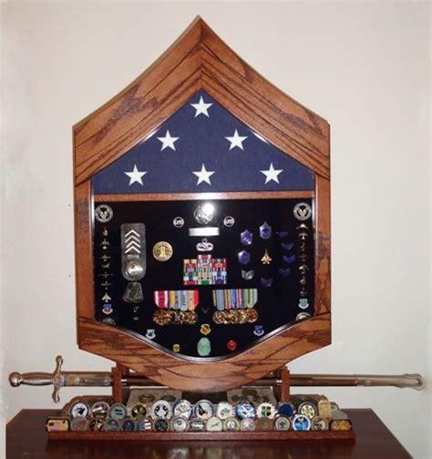 military retirement flag ribbon shadow box  saber