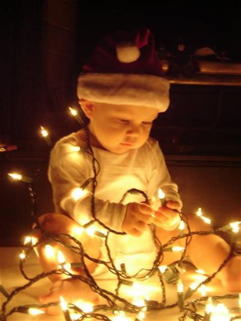 baby s first christmas photo card poses