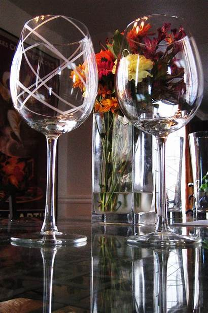 Glass Glasses Etched Etching Wine Christmas Diy