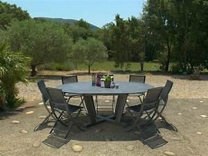 Tables Rondes De Jardin : hegoa table ronde collection hegoa by les jardins ~ Premium-room.com Idées de Décoration
