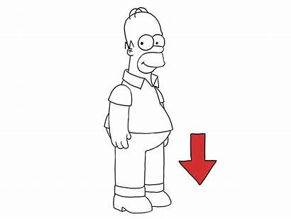 Simpson Homer Draw Simpsons Sketch Step Characters