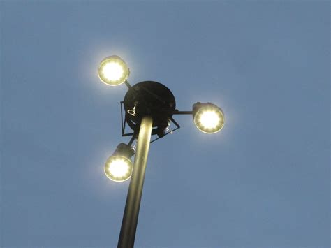 led high mast light the street lights of the freeways streets mn