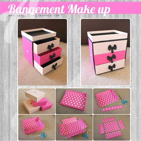fabriquer des boites de rangement en bricolage comment faire un rangement de make up
